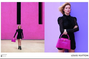 Léa Seydoux x Louis Vuitton Travel Campaign By Patrick Demarchelier