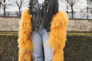 Irina Lakicevic Streetstyle in Paris