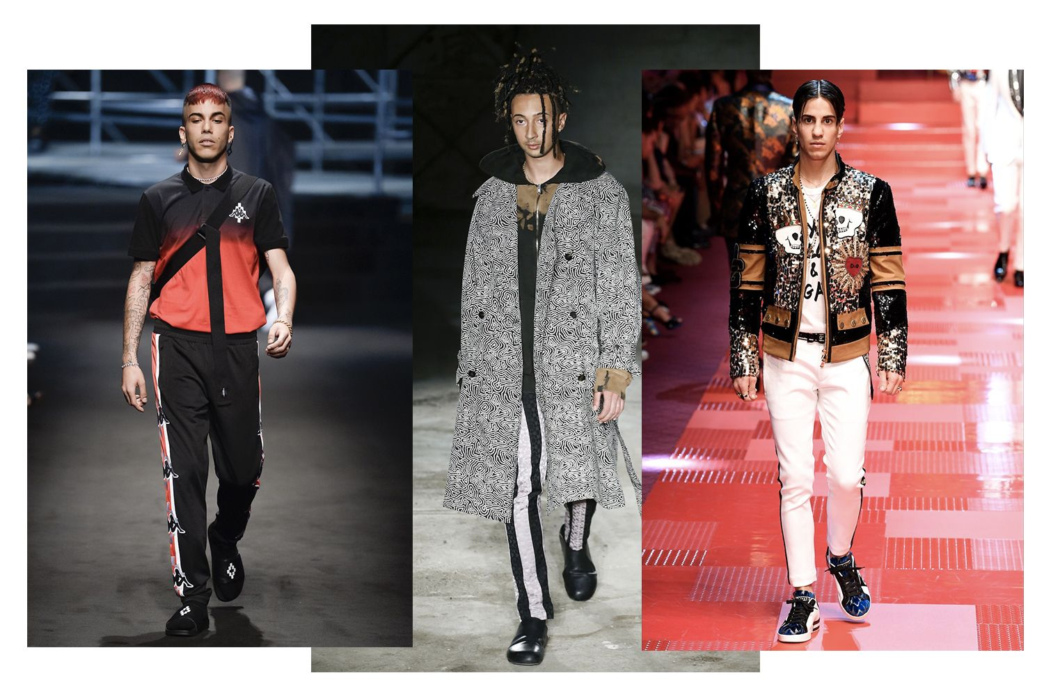 Italian Rappers Become Models At Milan Fashion Week