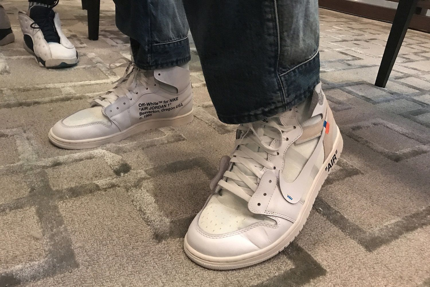 An Off-White x Air Jordan 1 white may be on its way