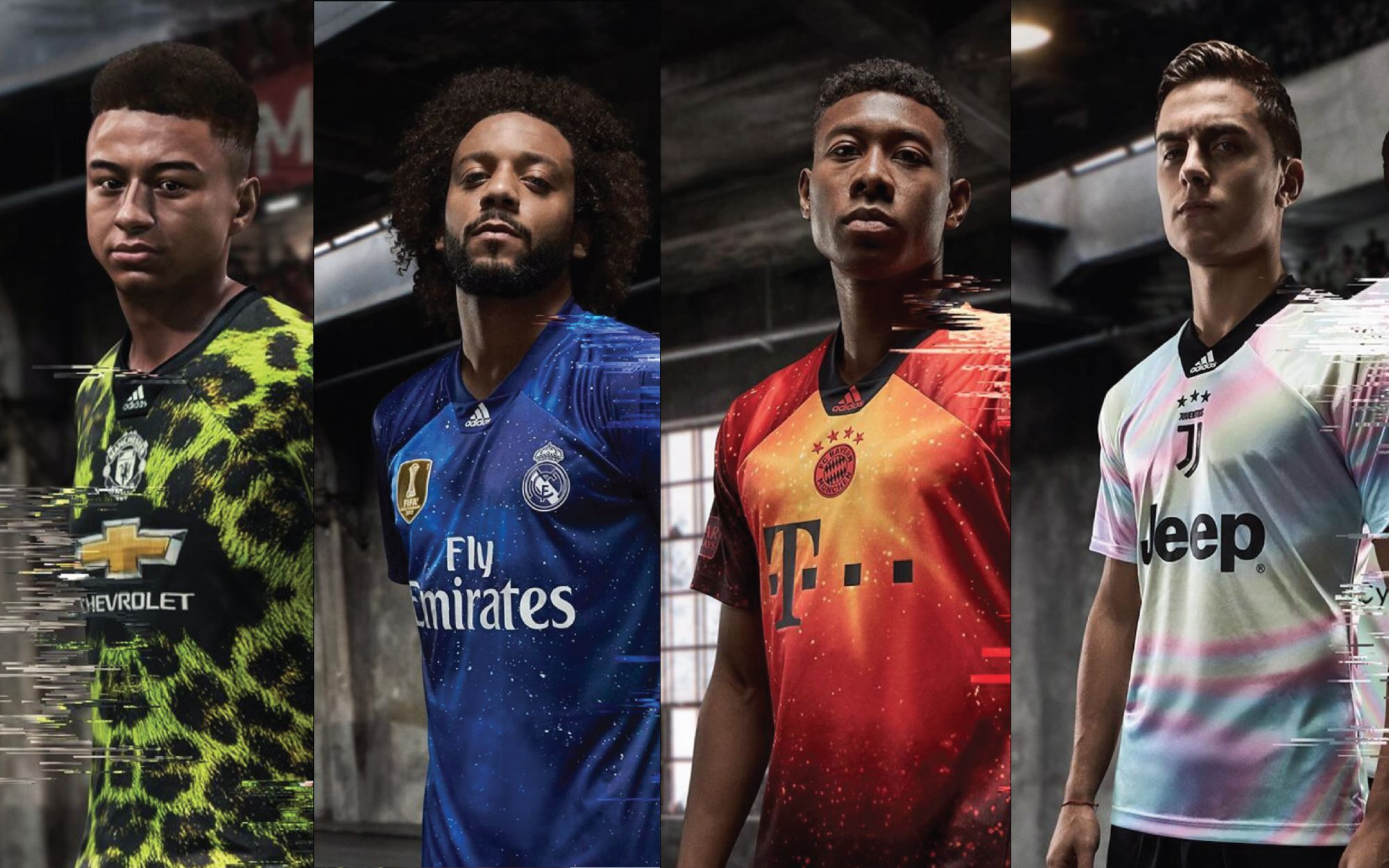 adidas presented 4 special jerseys in collaboration with EA Sports