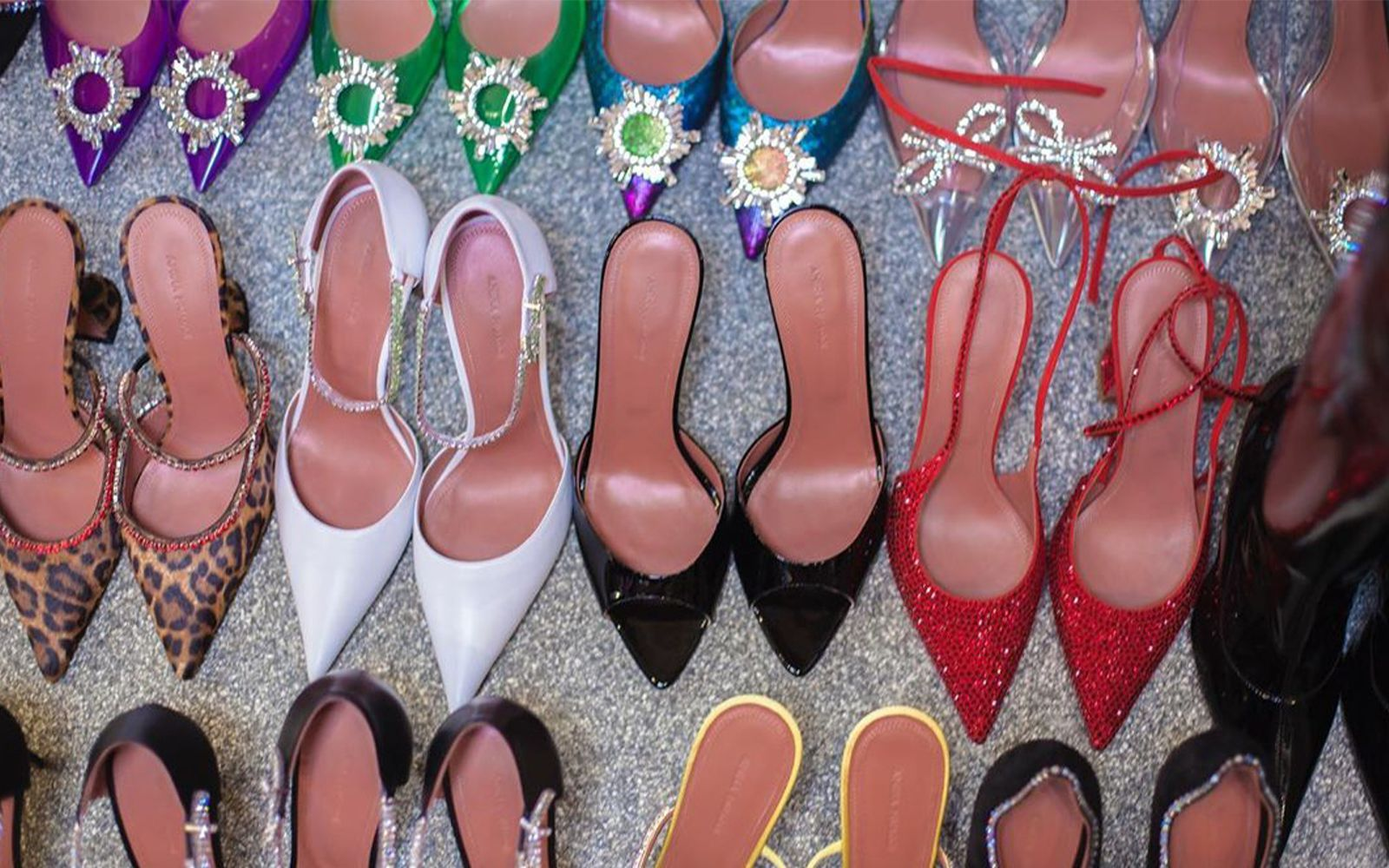 Amina Muaddi's new shoes for the FW20 collection
