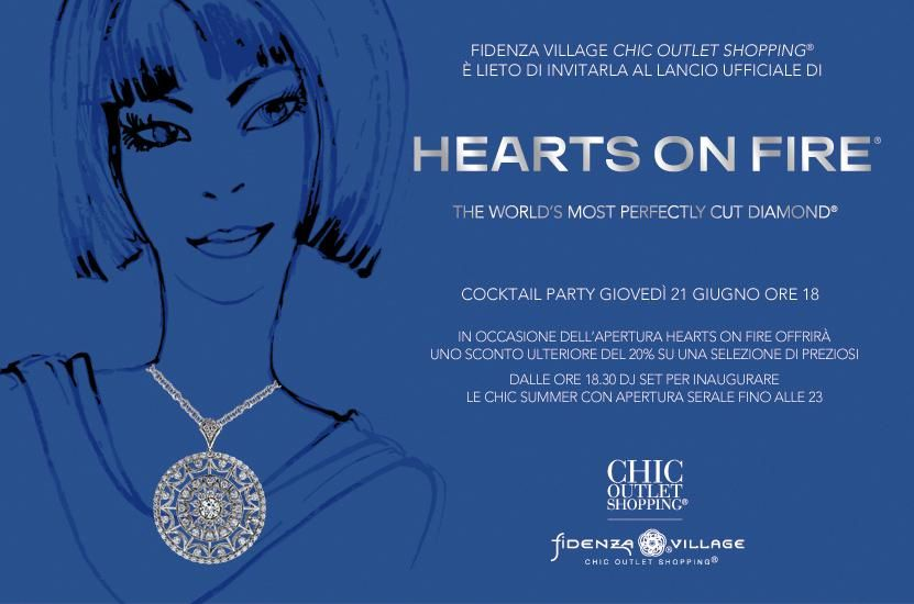 Save the date - Hearts on fire boutique at Fidenza Village