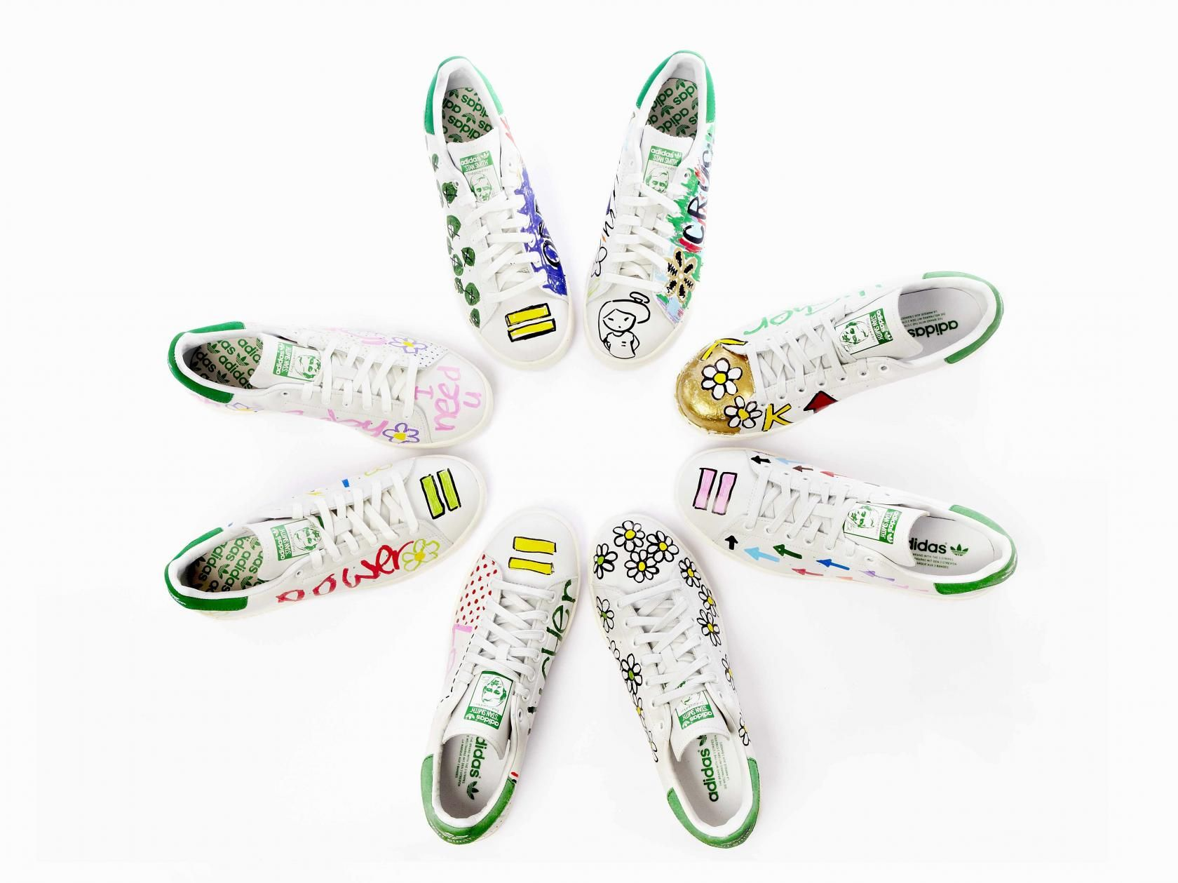 painted stan smiths