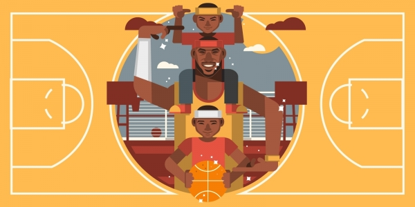 The golden life of the NBA children  NSS - New Sport Side
