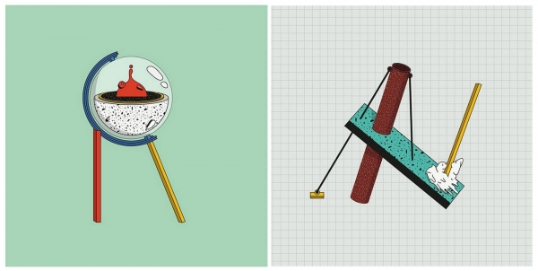 A tribute to Memphis Design  Illustrations by Mariano Pascual