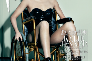 Kylie Jenner poses on a wheelchair For Interview Magazine